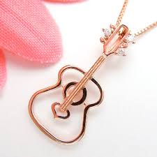 guitar necklace jewelry images Jewelry queen rakuten ichibaten rakuten global market pink gold jpg