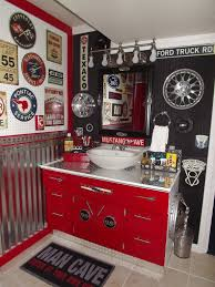 Teen Bathroom Decor Our Boys New Vintage Car Auto Bathroom Easy And Inexpensive