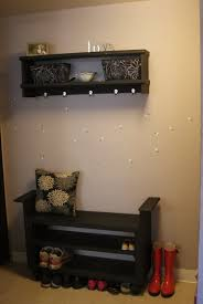 Entry Storage Bench With Coat Rack Entryway Storage Bench