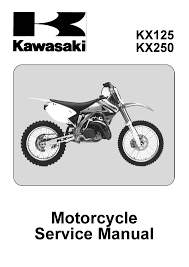 kawasaki service manual 2003 kx125 m1 u0026 kx250 m1 2004 kx125 m2
