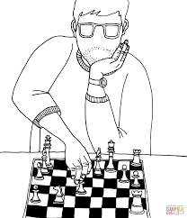 two boys playing chess coloring page free printable coloring pages