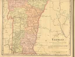 State Of Vermont Map by Railroad Maps