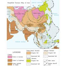 Sw Asia Map by International Geological Map Of Asia At 1 5 M Igma Ccgm Cgmw