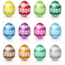 decorative eggs decorative floral easter egg vector clipart image 58364 rfclipart