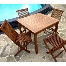 table et 4 chaises ensemble en teck à petit prix salon table 4 chaises