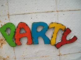 party 3d metal sign decorative wall art colored letters
