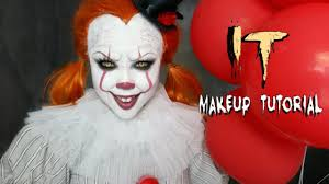 halloween makeup smile it u0027pennywise u0027 halloween makeup tutorial youtube