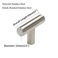 stainless steel kitchen cabinet doors uk doors door hardware 10x brushed steel t bar handles