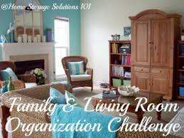 Home Storage Solutions 101 Organized Home Organizing Living Room U0026 Family Room Challenge