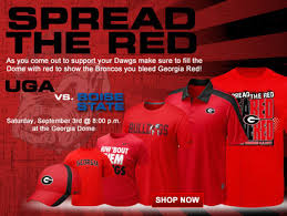 photo georgia bulldogs calling for red out vs boise state sb