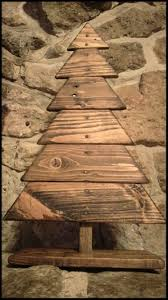 Prim Tree Gifts Home Decor by Best 25 Wooden Christmas Trees Ideas On Pinterest Wood