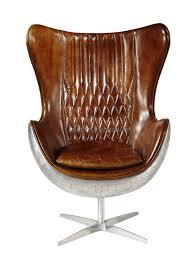 Office Desk Vintage Vintage Top Grian Real Leather Office Desk Chair Aluminium Back