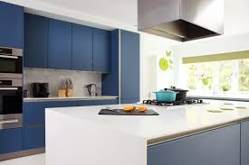 amersham 2 kitchen design drawing room blue lacquer cabinetry