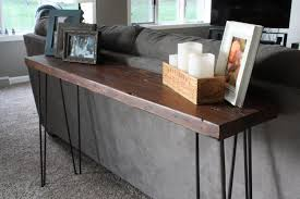 Modern Entry Table by Counsel Table Hairpin Legs Metal Reclaimed Wood Sofa Table