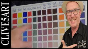 making a colour chart acrylic painting for beginners clive5art