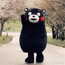Halloween Mascot Costumes Cheap Kumamon Kumamoto Bear Cartoon Costume Doll Walking Mascot Costume