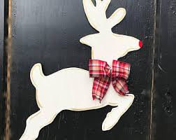 Flying Reindeer Christmas Decorations by Door Decor For Every Occasion By Furnitureflipalabama On Etsy