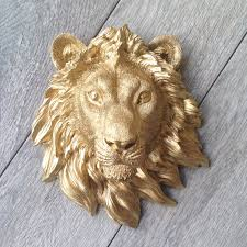 customize your lion head wall mount faux taxidermy 3d