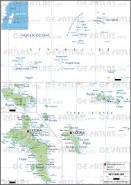 Seychelles Map Geoatlas Countries Seychelles Map City Illustrator Fully