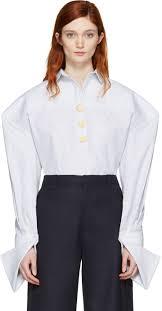 jacquemus pink skirt jacquemus white u0027la chemise bouton u0027 shirt
