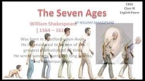 the seven ages cbse english class 9 youtube
