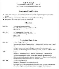 Retail Resume Sample by Sample Resume Template 24 Free Samples Examples Format