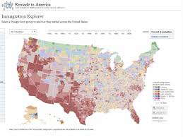 united states map and europe new york times immigration explorer interactive map languages