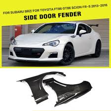 brz toyota 2pcs set carbon fiber side door fender flares for subaru brz