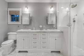 bathroom cabinet design ideas gray bathroom inset cabinets design ideas pictures zillow digs