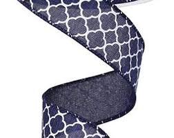 navy blue wired ribbon ribbon wired ribbon 50 yds ribbon wreath glitter