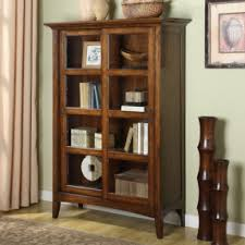 considerations before buying a wood bookcase with glass doors