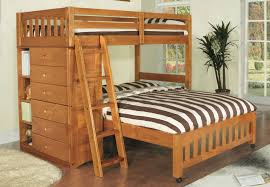 Discovery World Furniture Twin Over Full Honey Loft Bunk Beds - Full loft bunk beds