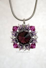 light purple necklace images Purple winter carnival square pendant with captured swarovski jpg