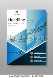 blue a4 business book cover design stock vector 548202295