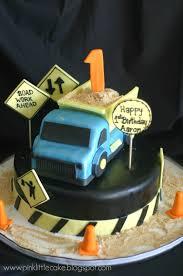 pink little cake dump truck cake