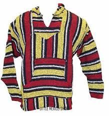 baja sweater medium baja hoodie yellow poncho sweater