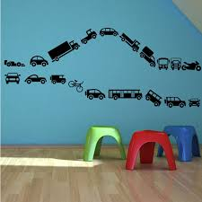 toy cars bike truck lorry set wall stickers decals murals stencils toy cars bike truck lorry set wall stickers