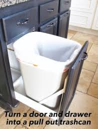 Under Cabinet Pull Out Trash Can Diy Pull Out Trash Cans In Under An Hour Kitchens House And