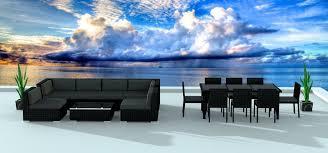 black series 16 ultra modern wicker patio set www