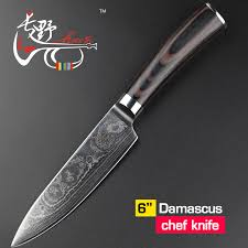 damascus kitchen knives damascus kitchen knife haoye 6 chef knife damascus merchant