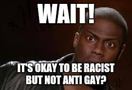 Anti Gay Meme - kevin hart the hell meme imgflip