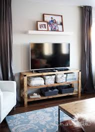 ana white henry media console diy projects