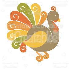 fancy swirls thanksgiving turkey svg cutting file clipart