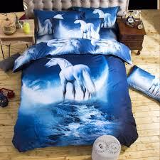 unikea 2016 new 3d bedding sets unicorn universe outer space quilt