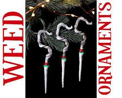 tree ornament marijuana joint blunt for the