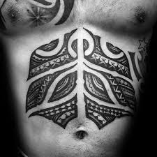 stomach lower chest goan tribal tattoos for males