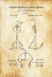 old anchor patent 1864 ship anchor vintage anchor anchor