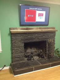 run tv cables above a fireplace 6 steps with pictures