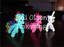 how to make a unicorn pony or horse charm on the rainbow loom