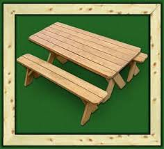 Picnic Table With Benches Wood Picnic Tables Delivered Solid Pine Outdoor Picnic Tables